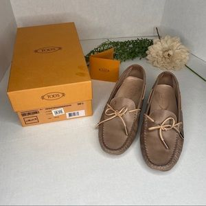 Tod's Leather Driving Mocassin Loafer Size 38.5